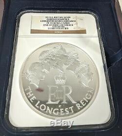 Great Britain Queen Elizabeth Longest Reigning Monarch Silver Kilo Coin PF70 500