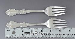 Great set 4 Towle Sterling Silver Queen Elizabeth I Salad Forks (2/3)