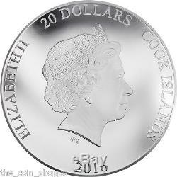 HAPPY 90TH ANNIVERSARY QUEEN ELIZABETH II 2016 $20 3 oz 100mm Silver Coin Cook