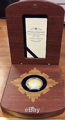 HM Queen Elizabeth II Gold Jubilee of accession gold &silver $20 proof coin