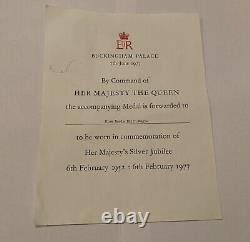 HM Queen Elizabeth II Silver Jubilee Medal 1977 Issued with Ladies Bow Ribbon