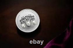 HM Queen Elizabeth's Lover's Knot Tiara $20 Silver Coin with Swarovski In Stock