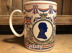 H. R. H Prince Phillip & Queen Elizabeth Wedgewood Large Mug Royal Silver Jubilee