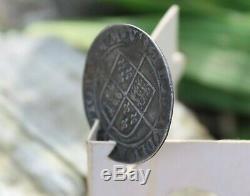 Hammered SHILLINGQueen Elizabeth IEngland Great BritainCross Crosslet SCARSE