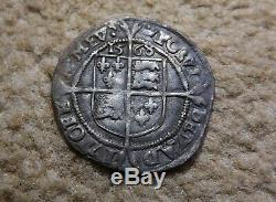 Hammered Silver Queen Elizabeth I 1st Sixpence 1568 Coin six pence