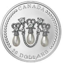 Her Majesty Queen Elizabeth's Lover's Knot Tiara 2021 Silver 1 Oz with Swarovsky