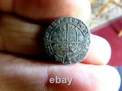 High Grade (XF) Original 1574 3 Pence Silver English Queen Elizabeth I