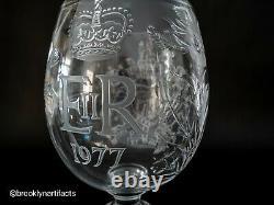 Huge 1977 Queen Elizabeth Silver Jubilee Presentation Goblet Webb Corbett