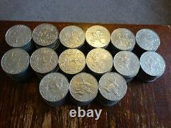 Job Lot of 150 SILVER JUBILEE OF QUEEN ELIZABETH Crown Coins 1977