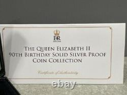 Jubilee Mint Queen Elizabeth II 90th Birthday Solid Silver Proof Coin Collection