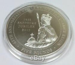 Jubilee Mint The Queen Elizabeth II Sapphire Jubilee Solid Silver Proof 5oz Coin