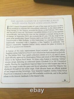 Jubilee Mint The Queen Elizabeth ll Sapphire Jubilee Solid Silver Proof Coin Set