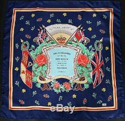 Liberty Of London Queen Elizabeth Silver Jubilee 1977 silk scarf 86x86cm