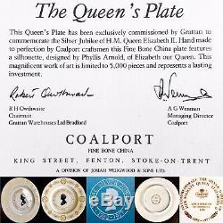 Limited Edition Coalport Queen Elizabeth II Silver Jubilee 11/28cm Plate (1977)