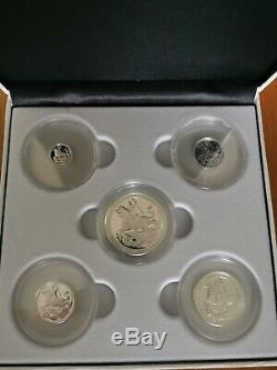 London Mint Queen Elizabeth II 2019 First Silver Sovereign 5 Coin Proof Set
