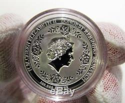 Longest Reigning Monarch Queen Elizabeth II 2015 1oz Silver Intaglio Finish Coin