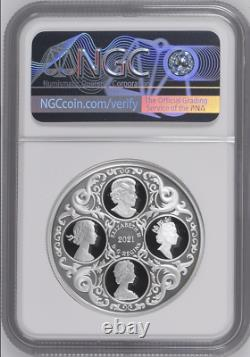 Majesty Queen Elizabeth Lovers Knot Tiara 2021 Canada $20 Silver Coin Ngc 70