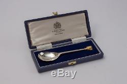 Mappin & Webb Cased Sterling Silver Queen Elizabeth II 1977 Silver Jubilee Spoon