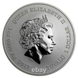 Marvel Series Spiderman Tuvalu 1 oz. 999 Silver 1 Dollar Queen Elizabeth II