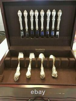 NEW! Towle Queen Elizabeth Sterling Silver Service for Eight With Storage Case