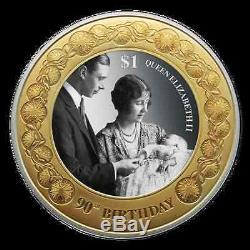 NZ 2016 Queen Elizabeth II 90th Birthday 1 OZ Silver Proof Coin SOLD OUT 1