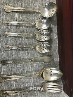 National Double Tested Silverplate Queen Elizabeth Flatware, With Chest DS43
