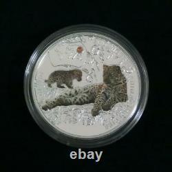 Niue Silver Coin Amur Leopard Queen Elizabeth II $1 17.5g WithCertificate! (8103N)