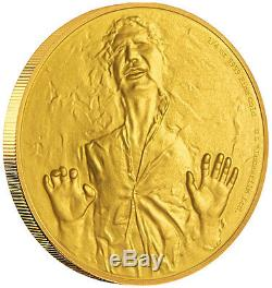 Niue Star Wars $25, 1/4 oz. Gold Coin, 2016, Mint, Han Solo, Queen Elizabeth