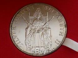 Official 925 Large Royal Mint 1977 Queen Elizabeth II Silver Jubilee Medal 57 mm