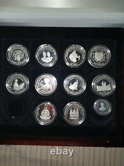 Official Silver 23 Coin Collection Of The Hm Queen Elizabeth Queen Mother