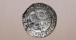 Old 1581 Queen Elizabeth 1 United Kingdom English 1 inch Silver Coin
