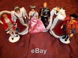 Peggy Nisbet (6) Silver Jubilee Dolls Queen Elizabeth Ii, Phillip, Tags & Boxes