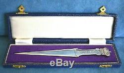 QUEEN ELIZABETH 1977 Jubilee Crown DA-MAR Sterling Silver Mail Letter Opener