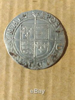 QUEEN ELIZABETH 1st 1 HAMMERED SILVER SHILLING. 1582-1583 mm BELL. RARE COIN