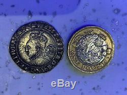 QUEEN ELIZABETH 1st SILVER HAMMERED 1573 RARE COIN