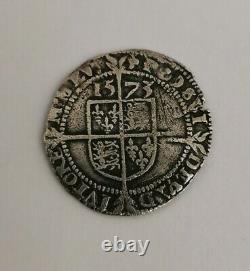QUEEN ELIZABETH 1st silver hammered THREE PENCE mm. Acorn