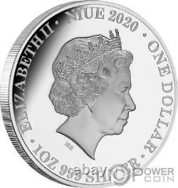 QUEEN ELIZABETH II 1 Oz Silver Coin 1$ Niue 2020