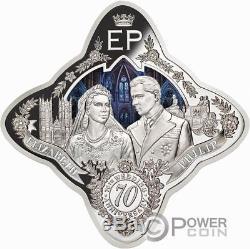 QUEEN ELIZABETH II AND PRINCE PHILIP Wedding 1 Oz Silver Coin 1$ Tokelau 2017