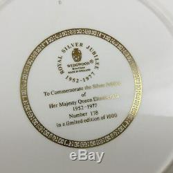 QUEEN ELIZABETH II CHINA PLATE RARE LIMITED EDITION SILVER JUBILEE Wedgwood
