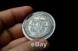 QUEEN ELIZABETH I MILLED SHILLING BRITISH SILVER RARE MEDIEVAL COIN