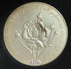 QUEEN ELIZABETH Silver Medal Medallion Coin / 1952-1977 Silver Jubilee 76 Gram