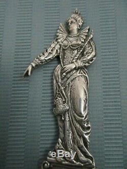 Queen ELIZABETH I Server SPOON No. H78 Gorham Sterling SILVER Cast Figural 1901