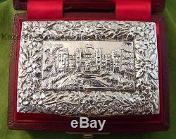 Queen Elizabeth 1977 Solid Silver Jubilee Limited Edition Castle Top Box + Case