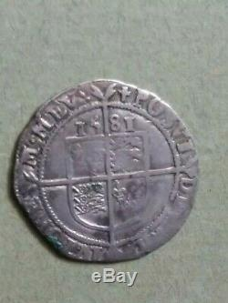 Queen Elizabeth 1st! 1581 England Silver Shilling Coin Portrait bust detail see