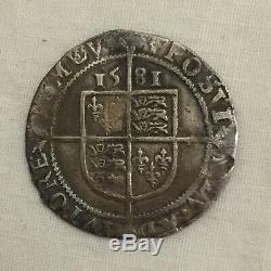 Queen Elizabeth 1st silver hammered sixpence I