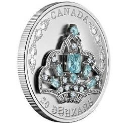 Queen Elizabeth BRAZILIAN AQUAMARINE TIARA Silver Coin Canada 2020