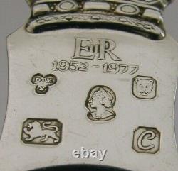 Queen Elizabeth English Solid Sterling Silver Tea Caddy Spoon 1977 Antique