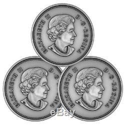 Queen Elizabeth II A Royal Life 2018 Canada $25 Fine Silver 3-Coin Set