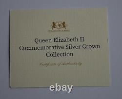 Queen Elizabeth II Commemorative 7 Silver Crown Collection Harrington & Byrne