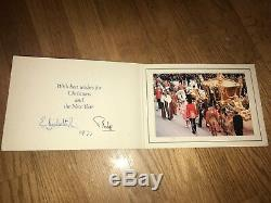 Queen Elizabeth II Prince Philip Fine Christmas Card 1977 -silver Jubilee